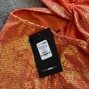 Fashion Nova Dresses - Fashion Nova orange sequin dress